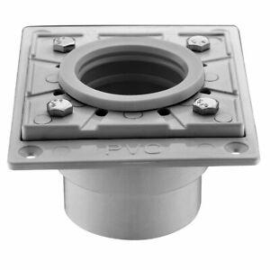 Dawn SDB040206 Square PVC Shower Drain Base, Grey