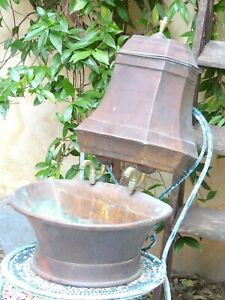 19th Century Rustic French Large Copper Gravity Wash Basin Fountain