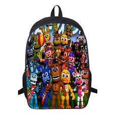 Five Nights At Freddy's FNAF Backpack School Book Bag Kids Boy Fans Shoulder Bag