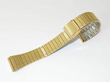 Retro, Rivetti, Braccialetto, orologi, nastro, oro ottica, 18 MM, watch strap, 80er, nastro di orologi, NOS