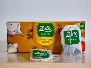 100% Pure Ceylon Black Tea 25 Bags Original Zesta Premium BOPF 50g