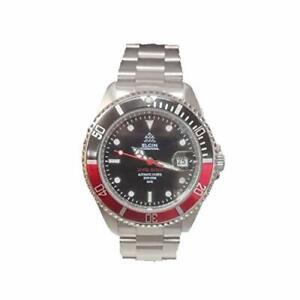 Elgin Elgin Men'S Watch Automatic Diver 200M Waterproof Black / Red