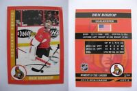 2015 SCA Ben Bishop rare Ottawa Senators goalie never issued produced #d/10