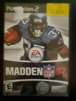 Madden NFL 07 Sony PlayStation 2 WITH CASE & INSTRUCTION MANUAL BUY 2 GET 1 FREE