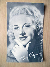 Real Photo Postcard- GINGER ROGERS + printed Autograph, Radio Pictures Studios