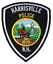 HARRISVILLE NEW HAMPSHIRE NH Police Sheriff Patch CHURCH STEEPLE MOUNTAINS ~
