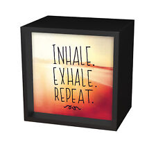 Light Box Arts Inhale Exhale Repeat Battery Operated LED Light Box Home Decor