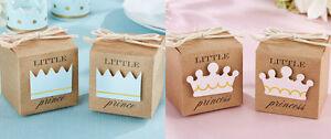 20x BABY SHOWER CHRISTENING LITTLE PRINCE OR PRINCESS FAVOUR BONBONNIERE BOXES
