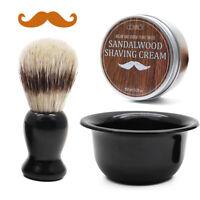 Men's Shaving Set - 5.2oz Beard Shaving Soap, Beard Shaving Brush & Shaving Bowl