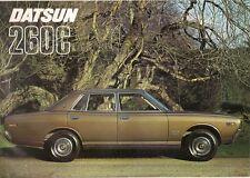Datsun Nissan 260C 1975-76 UK Market Sales Brochure Saloon Estate Cedric