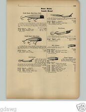 1951 PAPER AD South Bend Heddon Fishing Lure Babe Oreno Midgit Digit River Runt