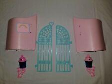 My Little Pony G1 Paradise Estate Parts Lot Front Walls Gates Lanterns