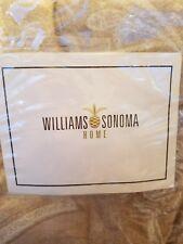 Williams Sonoma Home Woven Paisley king duvet + 3 standard shams stone New