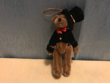 """Springford Miniature jointed bear  4"""" top hat and tails"""