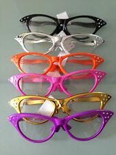 60 Fifties Riesen Brille mit Strass Partybrille zum 50er 60er Karneval