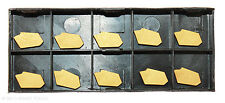 RISHET TOOLS GTN-3 C5 Multi Layer TiN Coated Carbide Inserts (10 PCS)