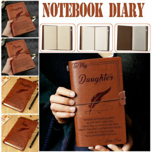 Personalised To My Daughter Son Engraved Leather Journal Notebook Diary Gift A6
