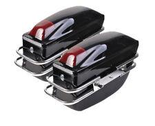 2 Pcs Motorcycle Cruiser Hard Trunk Saddlebags Luggage W/ Lights Mounted Chrome