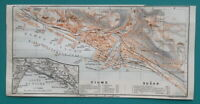 "1934 MAP 4 x 8"" (10 x 20 cm) - CROATIA Plan City of Rijeka Fiume & Susak"