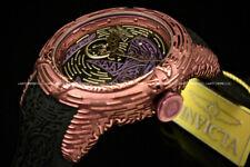NEW Invicta Men's S1 51MM MAORI SHARK AUTOMATIC OPEN HEART Silicone Strap Watch