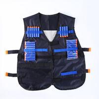 Outdoor Tactical Adjustable Vest Kit For Nerf N-strike Elite Games Hunting Black