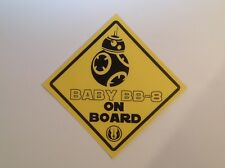 Baby on Board Star Wars 'Baby BB-8 on Board' Waterproof vinyl car Sticker
