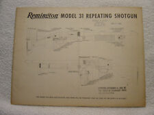 Remington model 31 parts catalog brochure