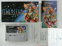 Star Ocean (Very Good) SNES ENIX Nintendo Super Famicom BOX From Japan