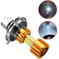 H4 18W White LED 3 COB Motorcycle Headlight Bulb 6000K 2000LM Hi/Lo Beam Light
