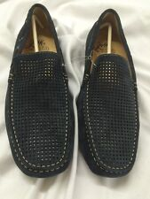 Johnston and Murphy Men's Casual Suede Shoes Size 9, Retails For $169 Navy J22