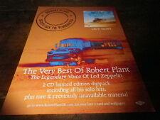 ROBERT PLANT - Publicité de magazine / Advert !!! SIXTY SIX TO TIMBUKTU 2 !!! UK