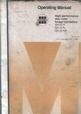 Mengele Disc Rotor Forage Harvester SH40 H, SH 40 N, SH 40 NB Operators Manual