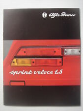 ALFA ROMEO  Alfasud  Sprint  Veloce 1.5   brochure/Prospekt  01-1981.