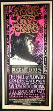 Rare Arminski SF Rock Art Expo 1994 Silkscreen Concert Poster