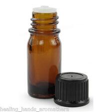 5 X 10ml verre ambré aromathérapie Flacon compte-Gouttes