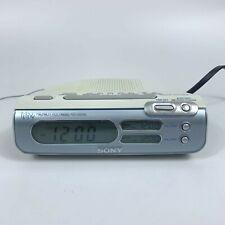 New ListingSony Icf-C273 Liv Dream Machine Dual Alarm Clock Am/Fm Radio White/Silver