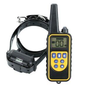 Dog Pet Training Collar Rechargeable Waterproof Electric Shock Anti Bark 800m