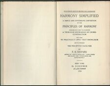Harmony Simplified chord construction by Fh Shepard published G. Schirmer 1914