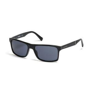 Harley Davidson Herren Rechteck Sonnenbrille HD0918X 01A Schwarz / Grau  57-17