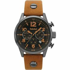 Timberland Jenness 15376JSU/02 Men's Watch With Brown Leather Strap