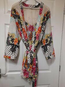 Ladies River island Kimono style dressing gown Size Xl