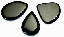 Genuine Black Onyx 164.3 TCW Lot of 3 PCS. Pear Cut Cabochons!!