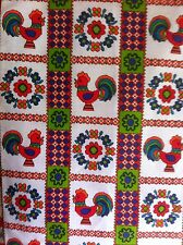 STUNNING PAIR  OF SCANDANAVIAN 1960S  VINTAGE CURTAINS,57CM W BY 92 L