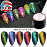 6Boxes MEET ACROSS 9D Cat Eye UV Gel Nail Polish Soak off Magnetic Gel Varnish