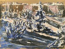 WINTER IN KOPENHAGEN - WINTER IN A CITY - PASTELL - H. FELTENDAL 1978