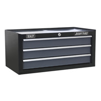 AP3503TB Sealey Mid-Box 3 Drawer with Ball Bearing Runners - Black/Grey