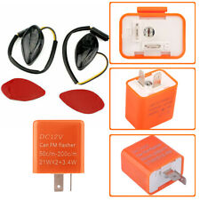 FLUSH LED Turn Signal Light w/ 2 Pin Adjustable Flasher Relay for HONDA Grom 125