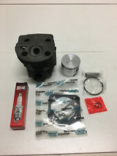 Husqvarna 51, 55, 55 Rancher cylinder & piston kit 46mm with gaskets Champ plug