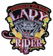 Ecusson patche dorsal dos grande taille LADY RIDER patch DIY grand