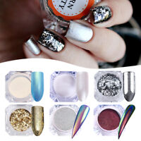 6 Pack Nail Art Glitter Powder UV Gel Acrylic Sequin Tips Pro Manicure Decor Set